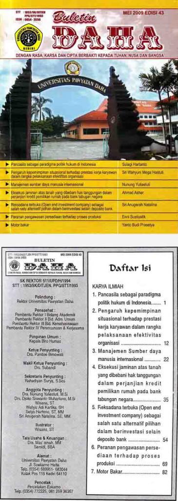 Cover Buletin Daha Mei 2009 Edisi 43