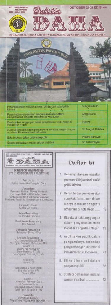 Cover Buletin Daha Oktober 2009 Edisi 44
