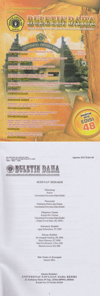 Cover Buletin Daha Oktober 2012 Edisi 48
